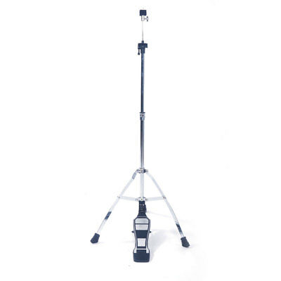 Hi Hat Cymbal Drum Stand Pedal Control Style Silver Tripod Workshop Portable