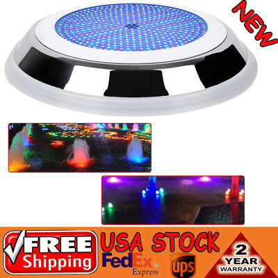 18W RGB 252 LED Underwater Swimming Pool Light 16 Colors Swim Decor Light 12V