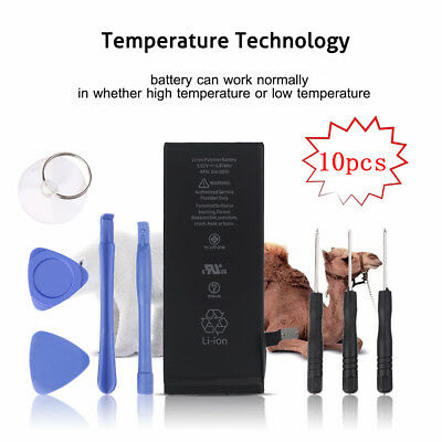 10X 1810mAh Li-ion Battery Replacement w/ Flex Cable For iPhone 6 +Suction Tools