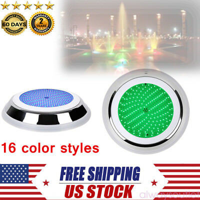 230mm Resin Filled Underwater Led Swimming Pool Light 18W RGB Multi-color 12V US