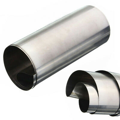 Silver 304 Stainless Steel Fine Plate Sheet Foil 0.01mm x 100mm x 1M