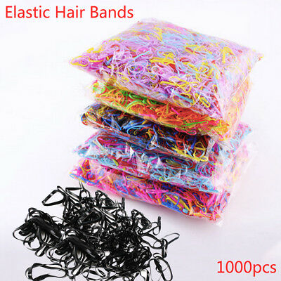 1000pcs TPU Band Hair Accessories for Women Children Rubber Elastics Hair Bands