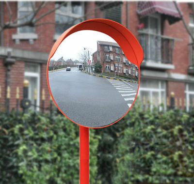 45cm Outdoor Traffic Road Convex Mirror Wide Angle Driveway Safety Security