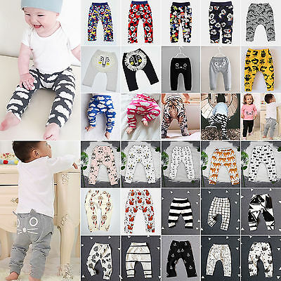 Baby Kids Boys Girls Animal Print Harem Pants Bottom Trousers Leggings Sweatpant
