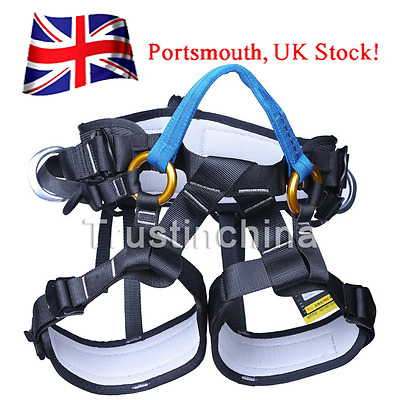 Safety Outdoor Rock Climbing Sit Harness Arborist Rappelling Tree Carving Belt