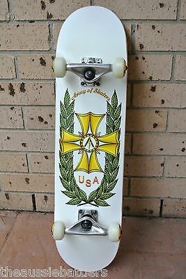 """ARMY OF SKATERS New Pro Complete Skateboard Canadian Maple Deck 31""""x7.75"""""""
