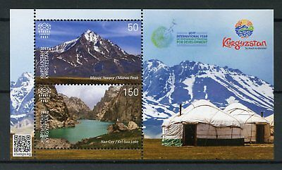 Kyrgyzstan KEP 2017 MNH Intl Yr Sustainable Tourism 2v M/S Mountains Stamps