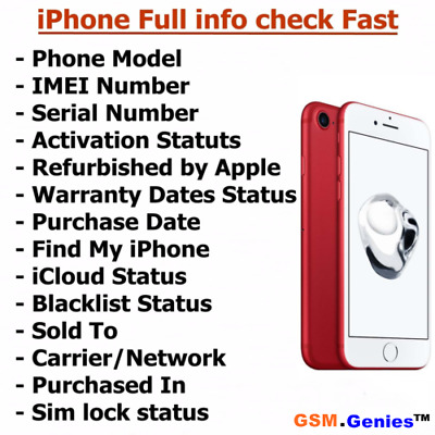 Check iPhone imei info - Carrier / Simlock / Warranty / FMI / iCloud / Blacklist