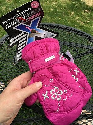 ZeroXposur Girl's Ski Gloves Pink/ Thinsulate  Mittens - Size M/L Youth (B6)
