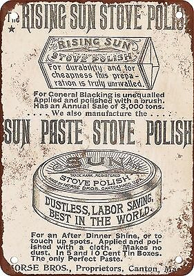"9"" x 12"" Metal Sign - 1895 Stove Polish - Vintage Look Reproduction"