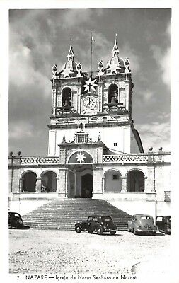 Vintage REAL PHOTO Postcard Church of our Lady of Nazare, Portugal #75