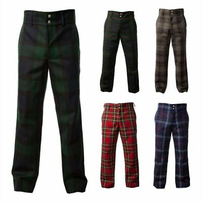 Slim Fit Formal Golf Trousers Men's  Tartan Trews - Various Tartans - All Sizes