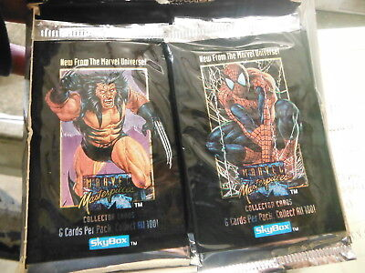 (6) SEALED PACKS - Skybox 1992 Marvel Masterpieces ~ NEW