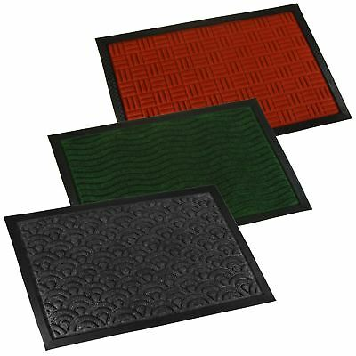 Rubber Welcome Door Entrance Mat Indoor Outdoor Non Slip Absorbent Flat Rug