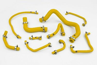 Stoney Racing Mazda Mx5 MK2 NB 1.6 Silicone Coolant & Breather Hoses Yellow