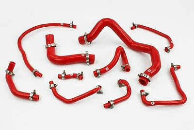 Stoney Racing Mazda Mx5 MK2 NB 1.6 Silicone Coolant & Breather Hoses Red Miata