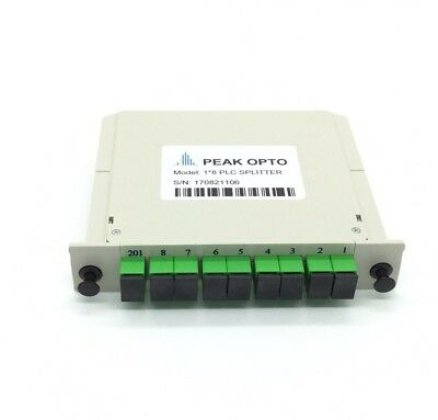 1X8 Blade optical splitter,PLC  carrier-class fiber optic splitter SC-APC