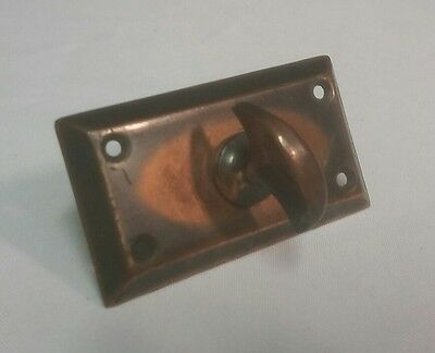 "VTG Brass/Copper Door Latch/Knob Gate or Cabinet 3.25"" x 1.75"" Antique Lock"