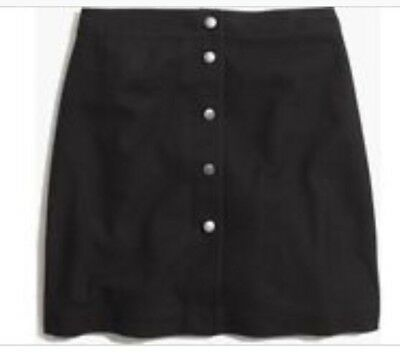 1784826dc28 NWT MADEWELL For JCREW button-front skirt Size14 F7618 In Black SOLD-OUT!