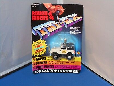 1984 LJN Rough Riders 4X4 TJeep CJ Tracker Toy Mint On Unpunched Card! Stompers