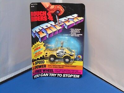 1984 LJN Rough Riders 4X4 Mustang The Boss Toy Mint On Unpunched Card! Stompers