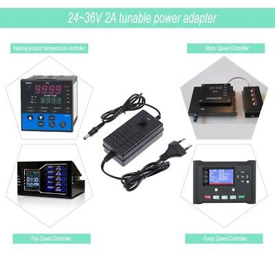 AC to DC Adapter 24-36V 2A Adjustable Power Supply Motor Speed Controller US/EU