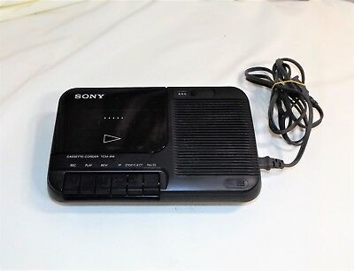 Vintage Sony Cassette Recorder model; TCM-818 with Power Cord, AC/DC, Works