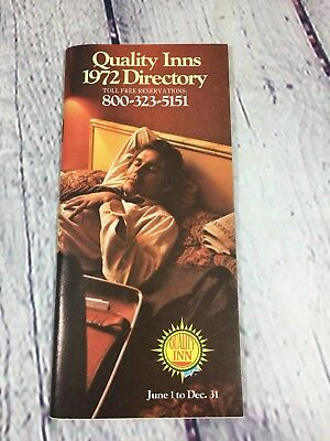Quality Inns 1972 Directory / Paper Motel Hotel
