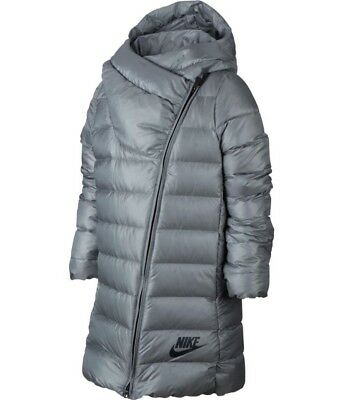 Nike Girl's Down Parka Jacket (Silver) - Age 6-8 - New ~ 859919 015