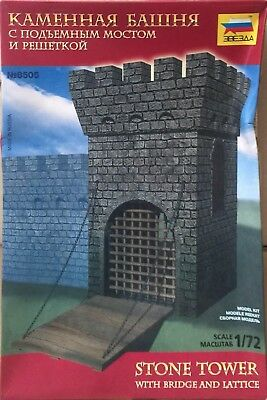 Zvezda Stone Tower with Bridge and Lattice Ref 8505 Escala 1/72