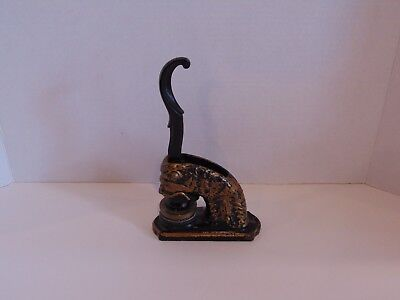 Antique Vintage Cast Iron Figural Stamp with Seal - Library of UDB