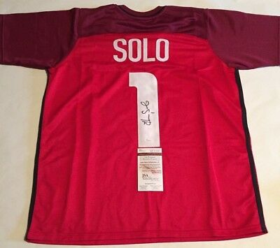 Hope Solo Autographed Team USA Red Soccer Jersey JSA Witnessed COA