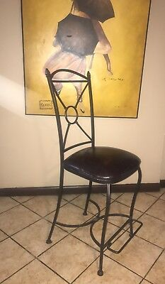Antique Leather High Chair