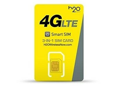 H2O WIRELESS 1 MONTH of $30 PLAN INCLUDED  3 in 1 PRELOADED SIM CARD READ DESCRI