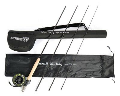 Stradalli 4Wt 9' 4pc Fast Action Fly Fishing Rod 100% Carbon Billet Reel Combo