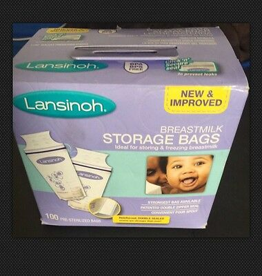 Lansinoh Breastmilk Storage Bags, 100 Count, for Storing and Freezing