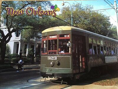 Oversized New Orleans Trolley Car Street Car Downtown Louisiana Postcard