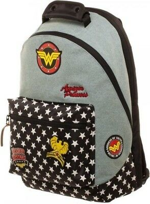 Dc Comics Wonder Woman Denim Backpack With Patches  - BRAND NEW