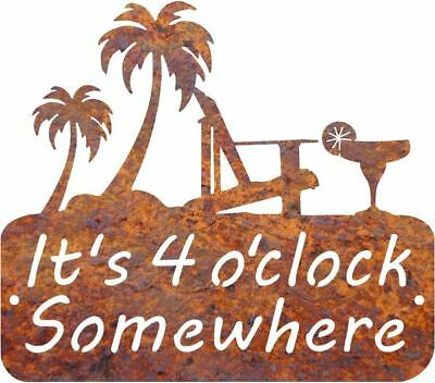 DXF CNC dxf for Plasma Router Vector 4 O Clock Somewhere Man Cave Home