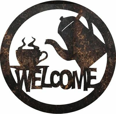 DXF CNC dxf for Plasma Router Vector Coffee Welcome Man Cave Home
