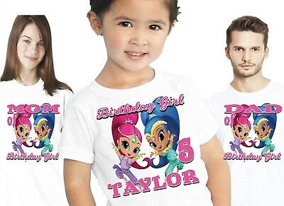 Shimmer and shine custom t shirt birthday personalize add name shimmer and shine birthday shirts shirt t shirt family party personalized girls sciox Gallery
