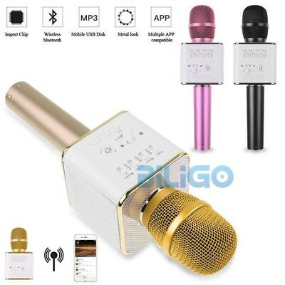Q9 Wireless Portable Microphone Bluetooth Mikrofon Karaoke Player Lautsprecher
