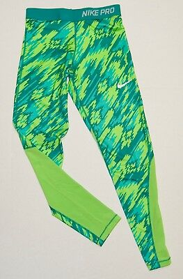 Nike Girls Pants Leggings Athletic Pro Cool Dri Fit Green Size XL NWT