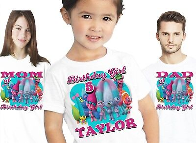Trolls Poppy Birthday Shirts Shirt T-Shirt Party Personalized Theme Girls Kids