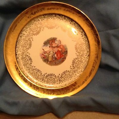 Taylor Smith 22Kt Gold Embossed Filigree Collector Plate #1452