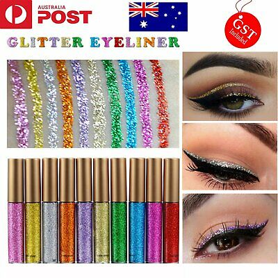 Glitter Liquid Eyeliner Sparkle Metallic Blinking Shining Eye makeup liner Long