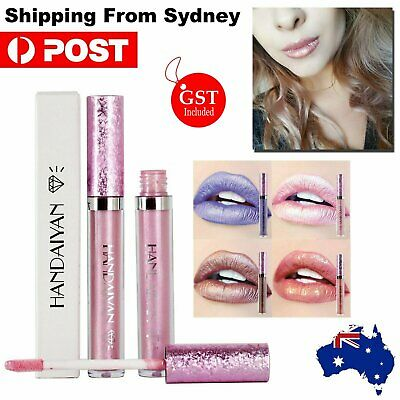 Waterproof Metallic Metal Lipstick Liquid Glitter Long Lasting Lip Gloss Makeup