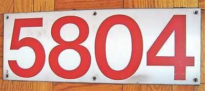 Vintage Toronto Canada Subway Train Car Number Board Plate Sign 5804 Steel
