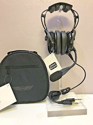 Asa Air Classics Hs-1A General Aviation Headset & Case Combo