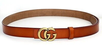 Womens Genuine Leather Thin Belts For Jeans 0.9 Belt For Womens Pants GG New